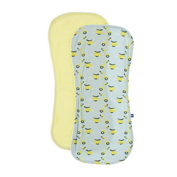 Kickee Pants Burp Cloth Set: Spring Sky Scooter