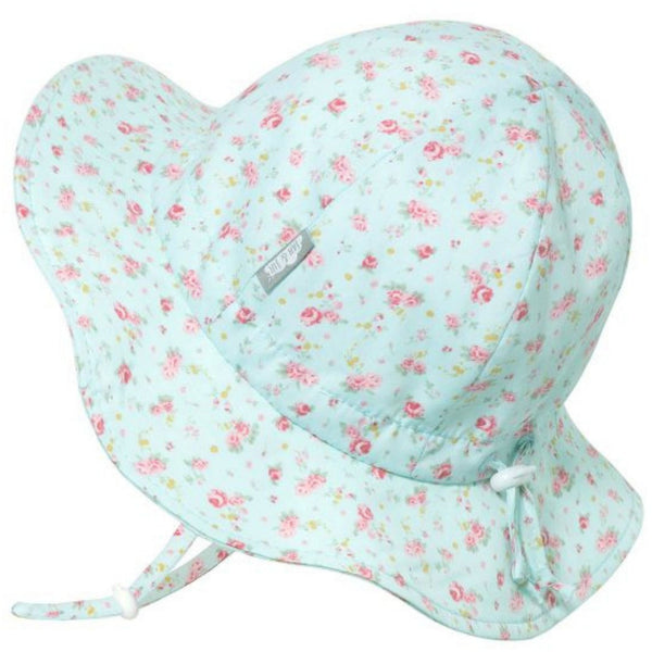 Gro-With-Me 50+ UPF Baby/Toddler Cotton Floppy Sun Hat | Retro Rose
