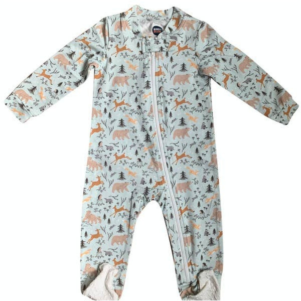 Bird & Bean Zip-Up Footie Romper | Forest Friends