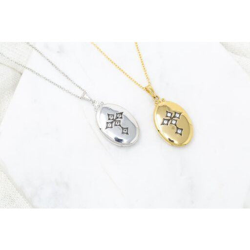 Colette Cross Locket Necklace