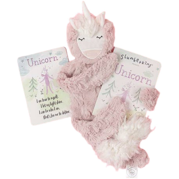 Slumberkins Unicorn Snuggler Bundle | Rose