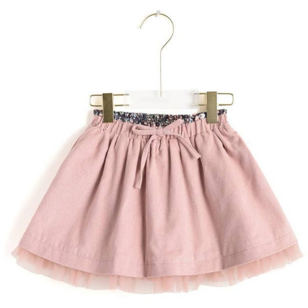 Frilled Corduroy Skirt | Blush
