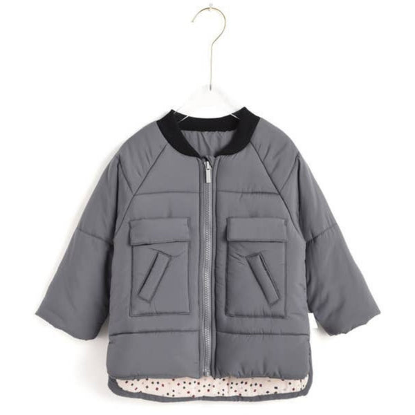Aimama Quilted Coat | Gray