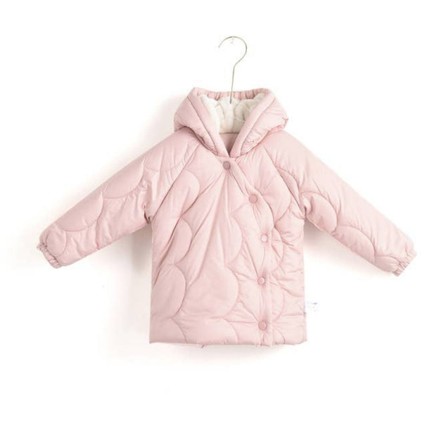 Aimama Hooded Quilted Coat | Pink