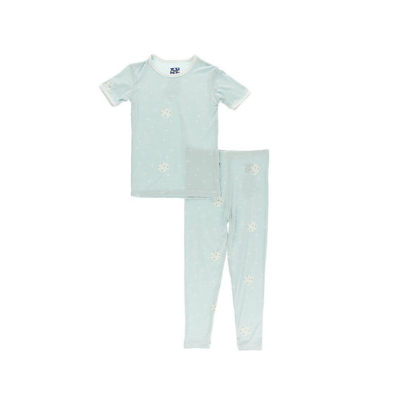 Kickee Pants Short Sleeve Pajama Set | Spring Sky Full Moon