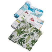 Little Unicorn 3 Pack Cotton Muslin Swaddles | Summer Vibe