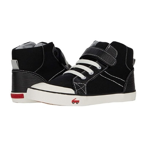 See Kai Run High Top Sneaker | Dane Black