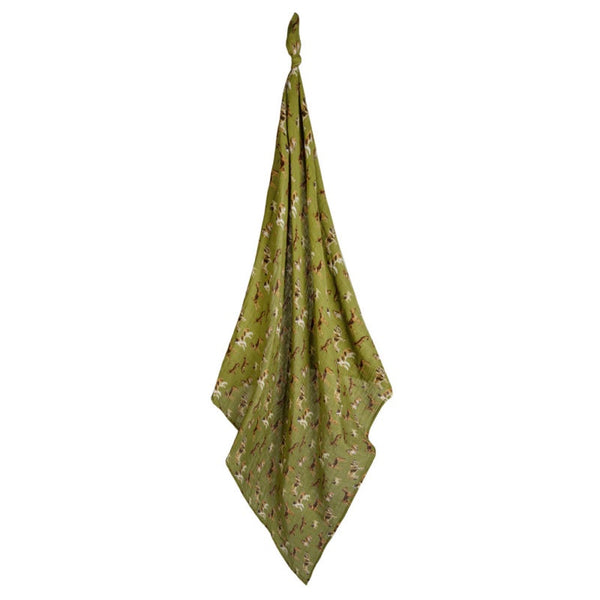 Organic Cotton Swaddle | Green Dogs