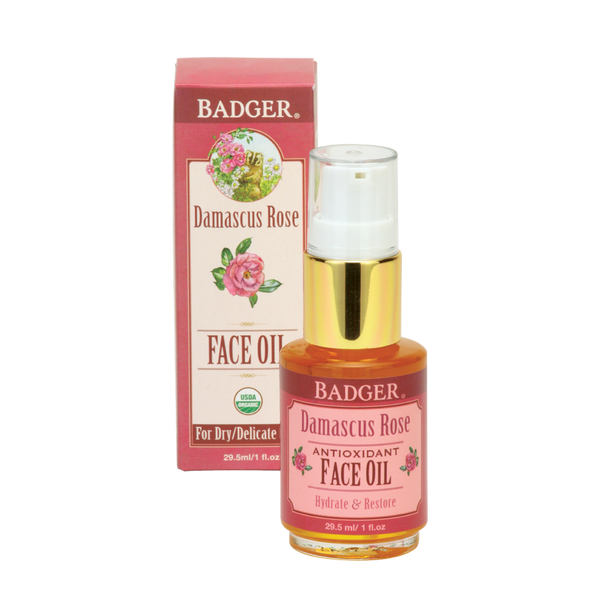 Badger Organic Moisturizing Face Oil | Rose or Argan Oil