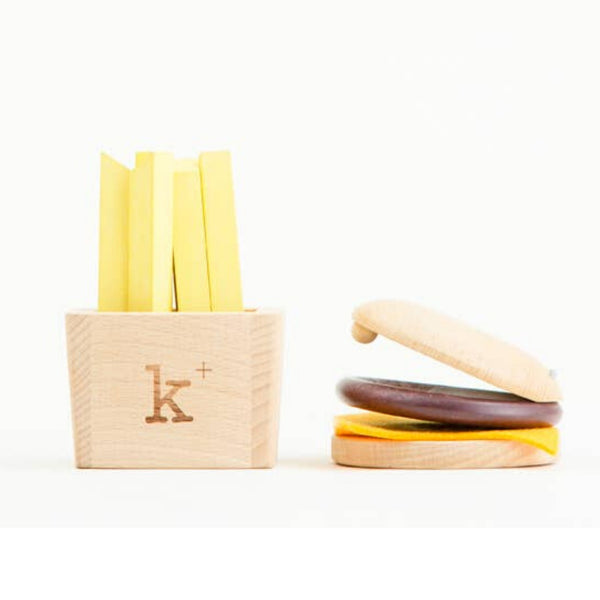 Hamburger and Fries Wooden Musical Play Set