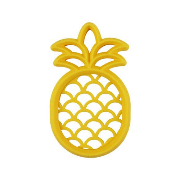 Itzy Ritzy Chew Crew Silicone Teether | Pineapple