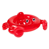 Red crab baby pool float with eyes that stick up | SaplingShop