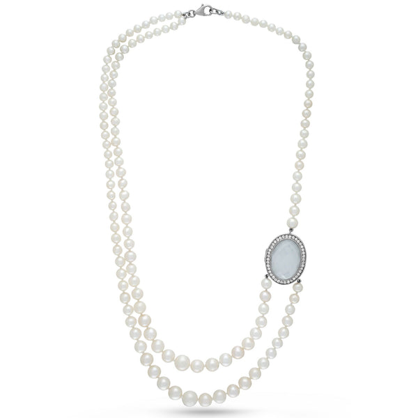 Claire Locket Pearl Necklace