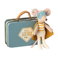 Super Hero Mouse in Suitcase