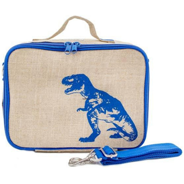 So Young Insulated Linen Lunch Box | Dinosaur