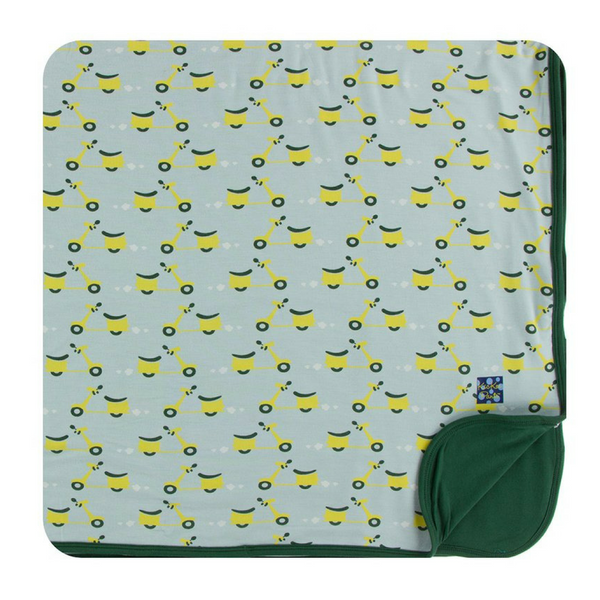 Kickee Pants Toddler Blanket: Spring Sky Scooter