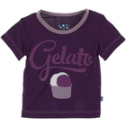 Kickee Pants Short Sleeve Tee: Wine Grapes Gelato