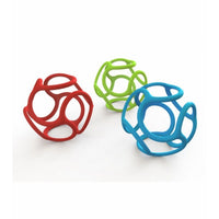 Bolli Teething Silicone Squishy Ball | Red + Blue