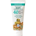 Badger Baby Clear Zinc Sunscreen Cream | Chamomile + Calendula