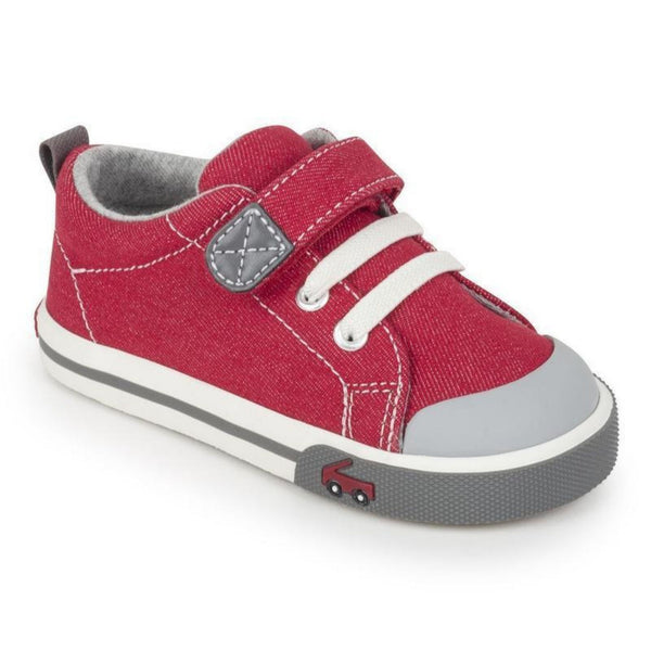 Stevie II Toddler and Children's Sneaker | Red/Grey