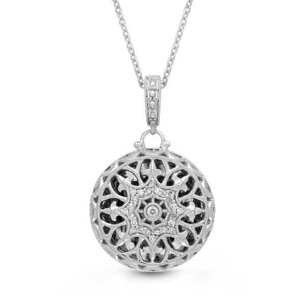 Beatrice Round Locket Necklace
