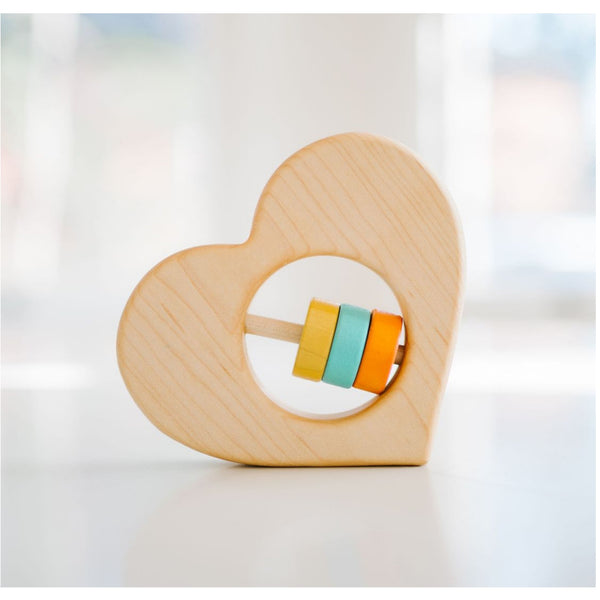 Bannor Toys Wooden Heart Rattle