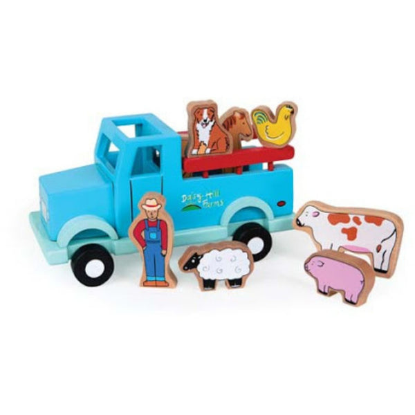 Magnetic  Wooden  Vehicle Play Set | Farm Truck