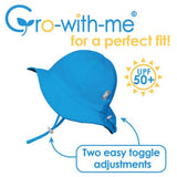 Grow-With-Me 50+ UPF Baby and Toddler Adjustable Cotton Floppy Sun Hat | Rainbows