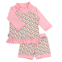 Swimwear UV Shirt & Shorts Set for Girls | Tiny Rose