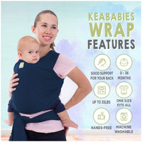 Baby Wrap Carrier | Navy Blue