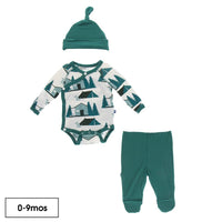 Kickee Pants Kimono Gift Set | Natural Cabins + Tents