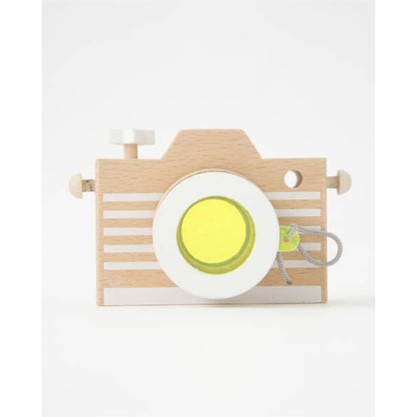 Wooden Kaleidoscope Play Camera | Yellow