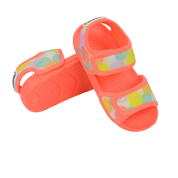 Waterproof  Play Sandal | Coral Dotty