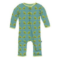 KicKee Pants Bamboo Coverall with Zipper | Neptune Ginkgo