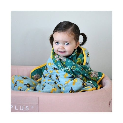 Cotton Muslin Cuddle Blanket | Save The Bees