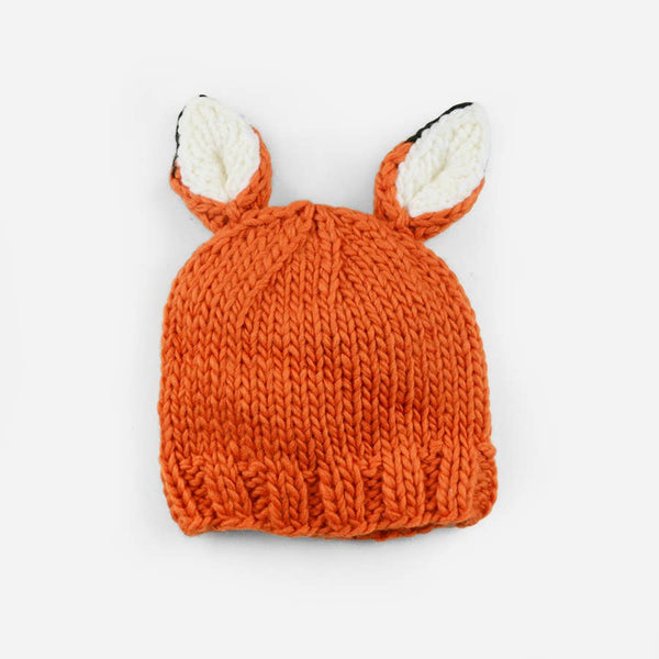 Hand Knit Winter Hat | Fox  (Infant - 8 Year)