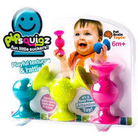 PiPsquigz Silicone Suction Rattle Toy