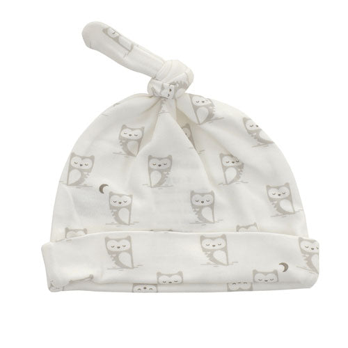 Organic Cotton Knot Hat | Silver Cloud Owl