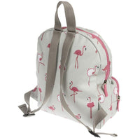 Sophie Allport Oilcloth Waterproof Stain Resistant Toddler Backpack | Flamingos