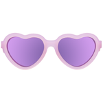 Sweetheart Polarized Children's Sunglasses | Pink Hearts with Mirrored Lens