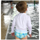 Reusable Baby and Toddler Swim Diaper | Aqua Hawaiian Turtle