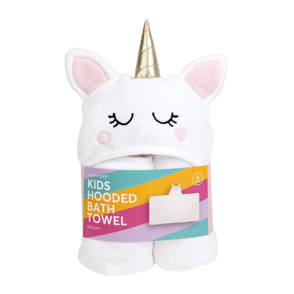 Unicorn Hooded Big Kid Bath Towel | 4yrs+