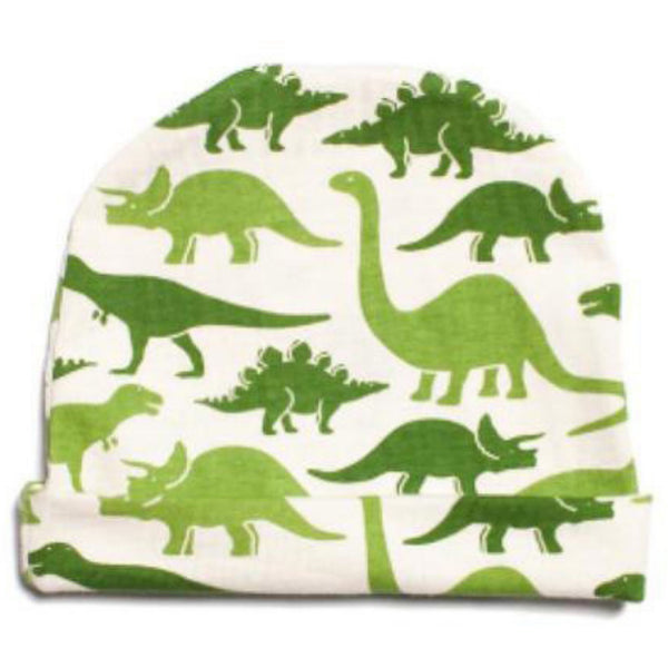 Winter Water Factory Baby Hat Dinosaurs Green