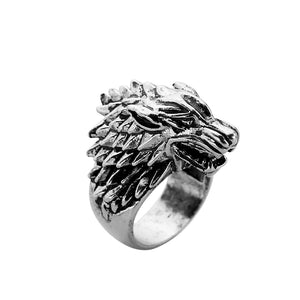 Winter is Coming Wolf Unisex  Ring