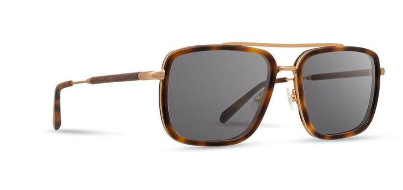 Grant: Matte Brindle & Matte Gold // Walnut - Grey Polarized