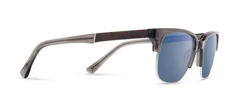 Newport 52mm: Charcoal // Elm Burl - Blue Flash Polarized