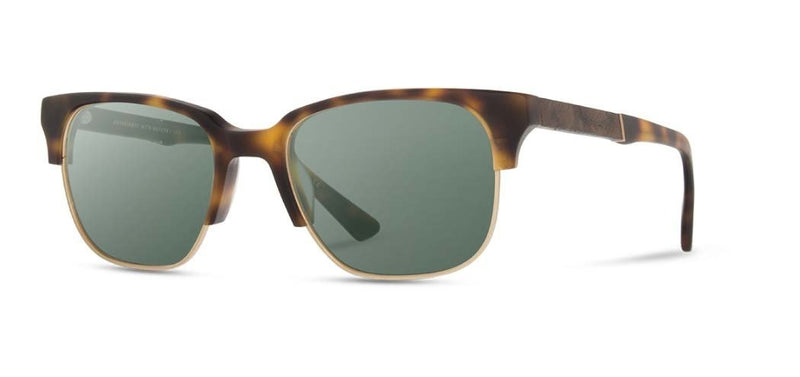 Newport 52mm: Matte Brindle // Elm Burl - G15 Polarized