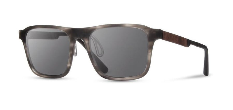 Riley ACTV: Matte Grey // Elm Burl - Grey Polarized