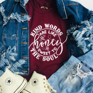 Kind Words Are Like Honey Graphic Sweatshirt - Brand Squawk Apparel