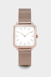 Square Mesh Strap Watch